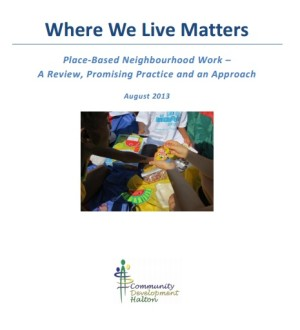 Report Cover: Where we live matters