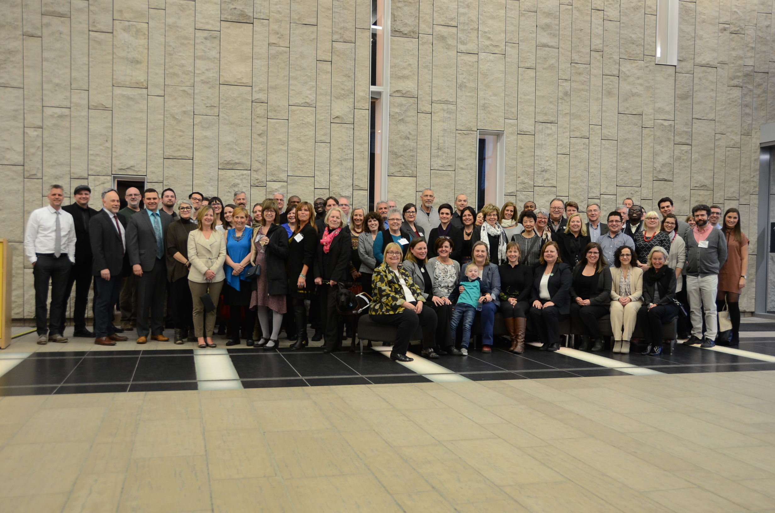 The attending CMNCP members at the reception held at the Waterloo Region Museum.